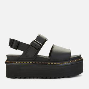 Dr. Martens Women's Voss Quad Double Strap Sandals - Black