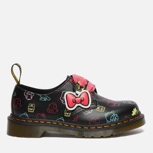 Dr. Martens X Hello Kitty Women's 1461 Leather 3-Eye Shoes - Black
