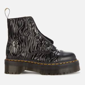 Dr. Martens Women's Sinclair Embossed Leather Zip Front Boots - Zebra