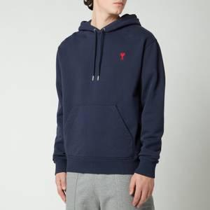 AMI Men's De Coeur Hooded Sweatshirt - Navy