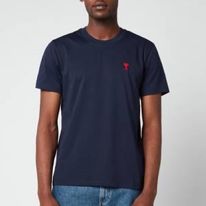 AMI Men's De Coeur Crewneck T-Shirt - Navy