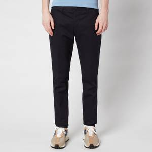 AMI Men's Cigarette Fit Chinos - Navy