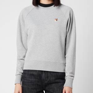 Maison Kitsuné Women's Fox Head Patch Sweatshirt - Grey