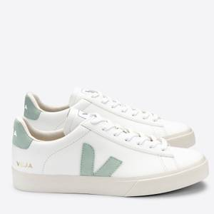 Veja Women's Campo Chromefree Leather Low Top Trainers - Extra White/Matcha