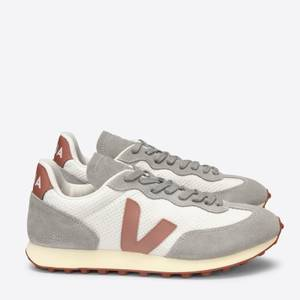 Veja Women's Rio Branco Mesh Running Style Trainers - Gravel/Dried Petal/Oxford Grey