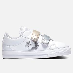 Converse Toddlers' Star Player Ox Metallic Velcro Trainers - White