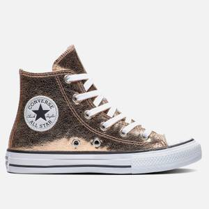 Converse Kids' Chuck Taylor All Star Hi - Top Trainers - Gold/ White