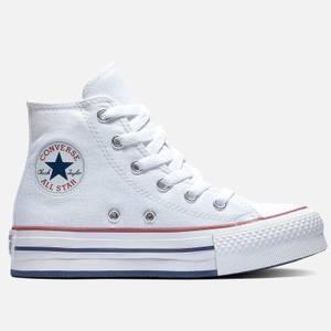 Converse Kids' Chuck Taylor All Star Eva Lift Hi - Top Trainers - White