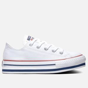 Converse Kids' Chuck Taylor All Star Eva Lift Ox Trainers - White