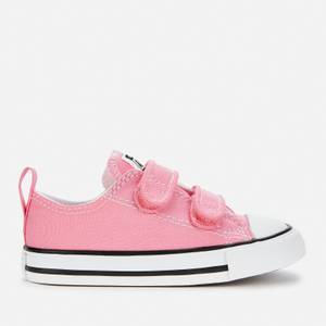 Converse Toddlers' Chuck Taylor All Star Ox Velcro Trainers - Pink