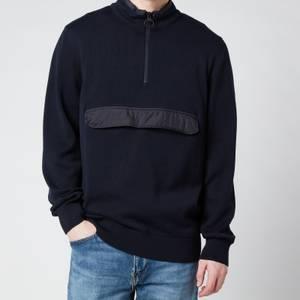 Barbour Men's Cartfile Half Zip Sweatshirt - Navy