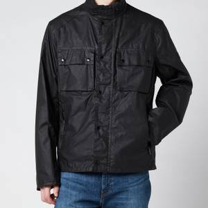 Barbour International Men's Challenge Wax Jacket - Black