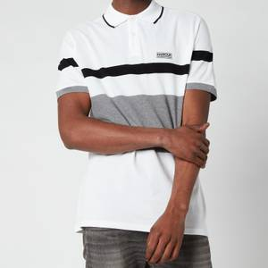 Barbour International Men's Clax Stripe Polo Shirt - White