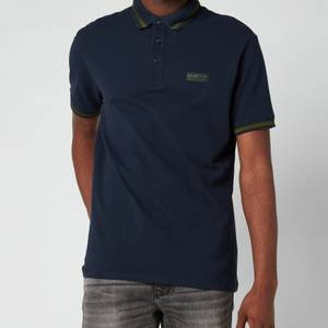 Barbour International Men's Grid Tipped Polo Shirt - Navy