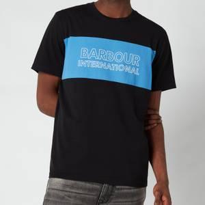Barbour International Men's Panel Logo T-Shirt - Black
