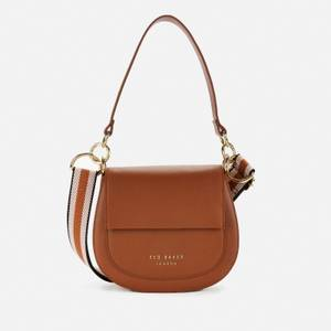 Ted Baker Women's Amali Branded Webbing Strap Xbody Bag - Brown