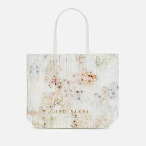 Ted Baker Women's Sazacon Floral Tote Bag - Ivory