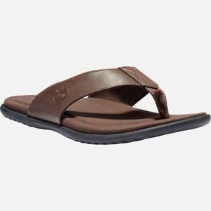 Timberland Men's Kesler Cove Leather Toe Post Sandals - Dark Brown