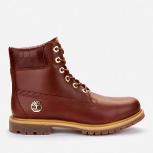 Timberland Women's 6 Inch Nubuck Premium Boots - Medium Brown/Croc