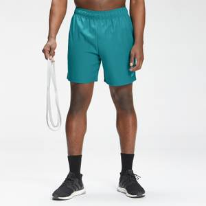 MP Men's Repeat Mark Graphic Training Shorts | Teal | MP