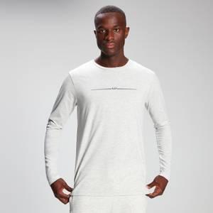 MP Men's Mini Mark Graphic Long Sleeve T-Shirt - Light Grey Marl