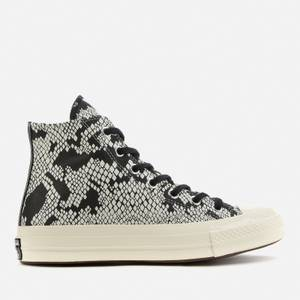 Converse Women's Chuck 70 Leather Hi-Top Trainers - Egret/Black/Black
