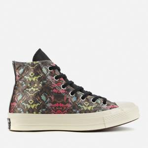 Converse Women's Chuck 70 Leather Hi-Top Trainers - Black/Hyper Pink/Egret
