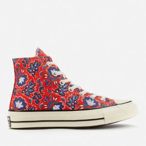 Converse Women's Chuck 70 Culture Prints Hi-Top Trainers - Habanero Red/Egret/Rush Blue