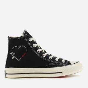 Converse Chuck 70 Love Thread Hi-Top Trainers - Black/Egret/Black