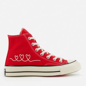 Converse Chuck 70 Love Thread Hi-Top Trainers - University Red