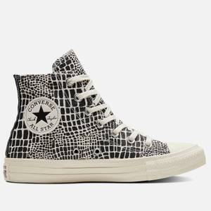 Converse Women's Chuck Taylor All Star Croc Print Hi-Top Trainers - Egret/Black