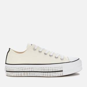 Converse Women's Chuck Taylor All Star Digital Daze Lift Ox Trainers - White