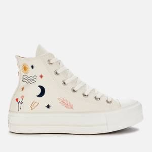 Converse Women's Chuck Taylor All Star It's Ok To Wander Lift Hi-Top Trainers - Egret/Vintage White/Black