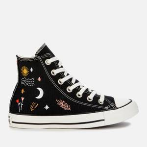 Converse Women's Chuck Taylor All Star It's Ok To Wander Hi-Top Trainers - Black/White/Black