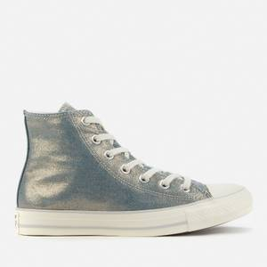 Converse Women's Chuck Taylor All Star Digital Powder Hi-Top Trainers - Wash Denim/Egret/Light Gold