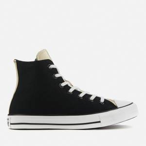 Converse Women's Chuck Taylor All Star Mono Metal Hi-Top Trainers - Black