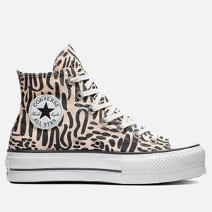 Converse Women's Chuck Taylor All Star Jungle Art Lift Hi-Top Trainers - Crimson Tint/Egret