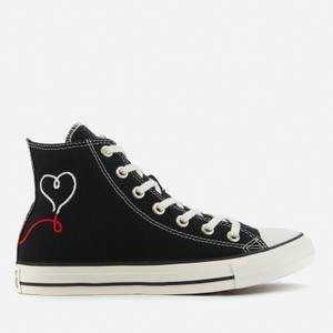 Converse Chuck Taylor All Star Love Thread Hi-Top Trainers - Black