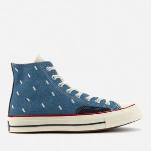 Converse Men's Chuck 70 Indigo Boro Hi-Top Trainers - Blue Egret