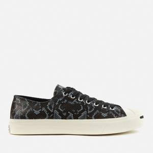 Converse Men's Jack Purcell Archive Reptile Ox Trainers - Black/Egret