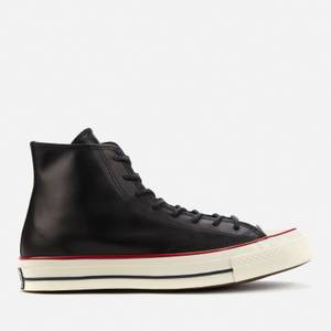 Converse Men's Chuck 70 Premium Leather Hi-Top Trainers - Black