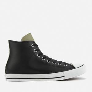 Converse Men's Chuck Taylor All Star Synthetic Leather Hi-Top Trainers - Black/Field Surplus