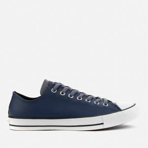 Converse Men's Chuck Taylor All Star Synthetic Leather Ox Trainers - Midnight Navy/Light Carbon