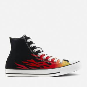 Converse Men's Chuck Taylor All Star Seasonal Graphics Hi-Top Trainers - Black/Enamel Red/Fresh Yellow