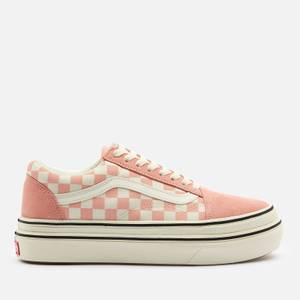 Vans Women's Suede/Canvas Super ComfyCush Old Skool Trainers - Peach/Marshmallow