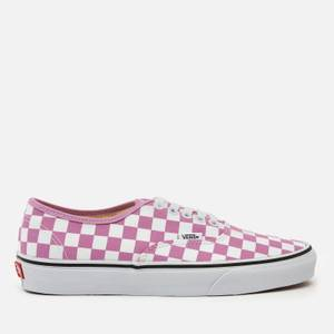 Vans Women's Checkerboard Authentic Trainers - Orchid/True White
