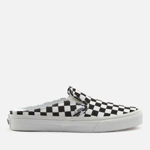 Vans Women's Checkerboard Classic Slip-On Mules - Black/True White
