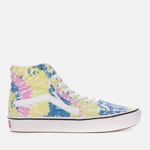 Vans Women's Tie-Dye Comfycush Sk8 Hi-Top Trainers - Orchid/True White