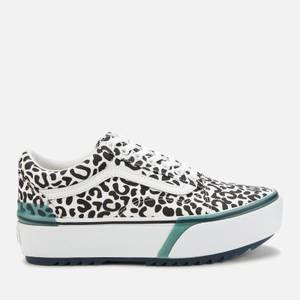 Vans Women's Uv Ink Old Skool Stacked Trainers - Leopard/True White