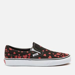 Vans Women's Valentines Hearts Classic Slip-On Trainers - Black/Pink/Red